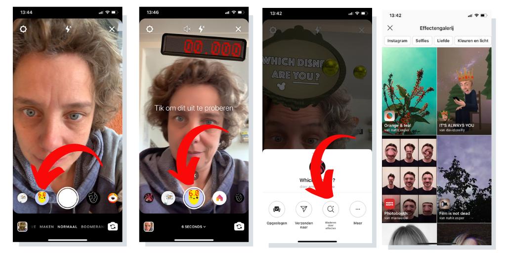 Instagram stories gezichtsfilters vinden en opslaan