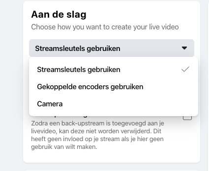 Facebook live desktop camera