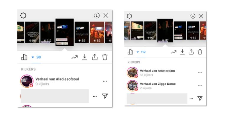Instagram stories weergaven hashtag