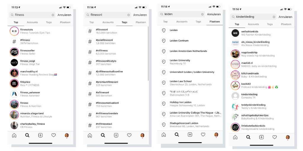 vindbaarheid doelgroep instagram