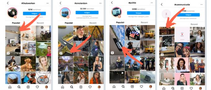 Instagram reels en hashtags