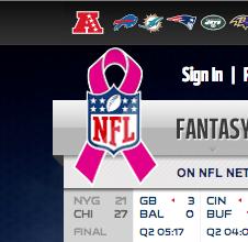 NFL borstkanker awareness
