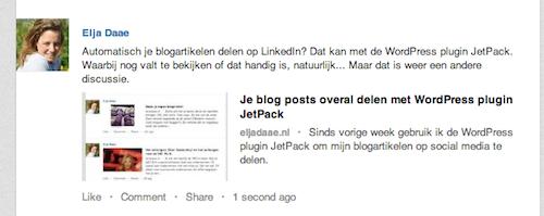 blogartikelen automatisch delen op linkedin