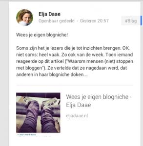 Delen op Google+ met JetPack
