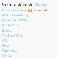 trending op twitter