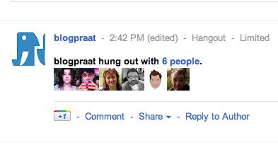 #blogpraat google+ hangout