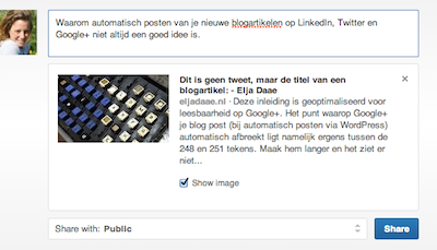Elja's blog post op linkedin