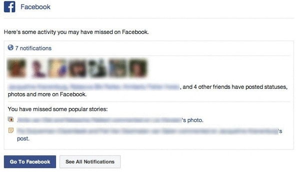 facebook wil mij terug