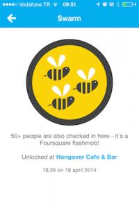 foursquare swarm badge locatie