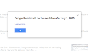 oplossing google reader