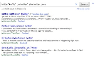 twitter doorzoeken met google