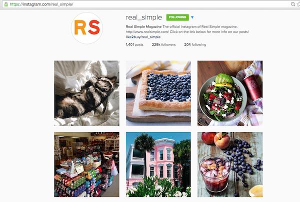 instagram voor bloggers: profiellink