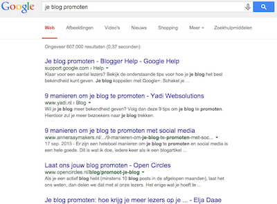 je blog promoten