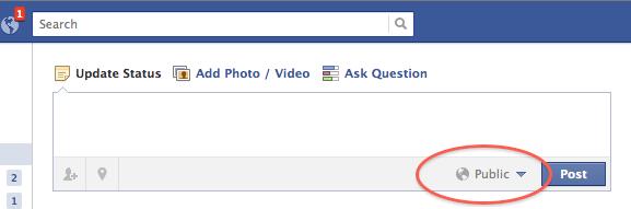 openbare updates op facebook