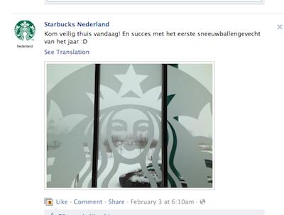 starbucks op facebook online community