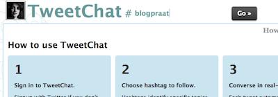 twitterchat tool tweetchat #blogpraat