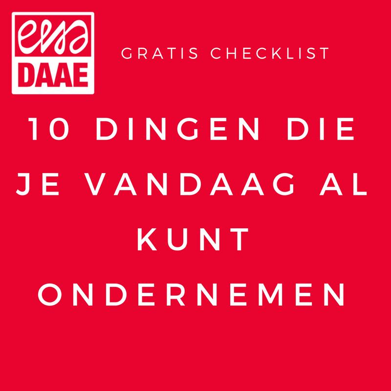 Checklist ondernemen: 10 dingen waar je vandaag nog mee kunt beginnen